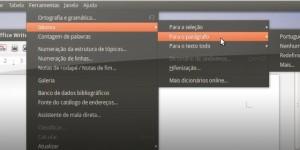 O LibreOffice agora já apresenta seleções nos menus do Unity