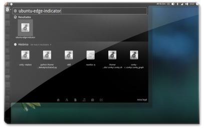 Unity a abrir o indicador do Ubuntu Edge