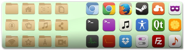 Conjunto de ícones MOCA, para Ubuntu