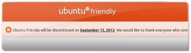 Ubuntu friendly vai fechar!
