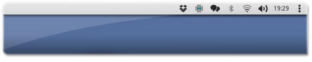 ícones NitruxOS no painel do Ubuntu