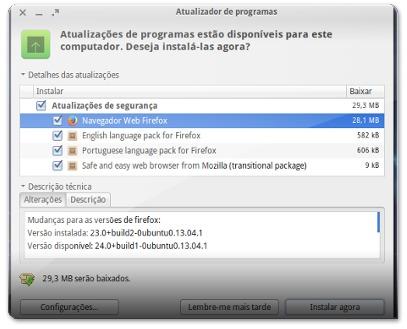 A atualizar o Firefox 24