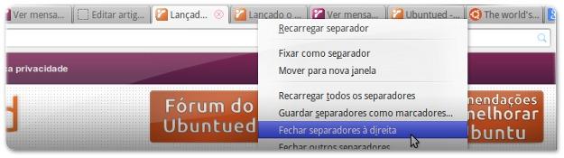 Firefox 24 - fechar separadores à direita
