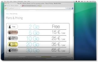O utilizador pode comprar mais espaço na cloud