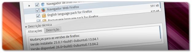 Atualização do Ubuntu com o Firefox e Chromium